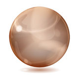 Big brown opaque glass sphere Stock Images