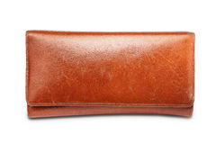 Big brown purse Royalty Free Stock Image