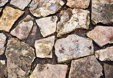 Big brown rock floor texture. Pattern Royalty Free Stock Images
