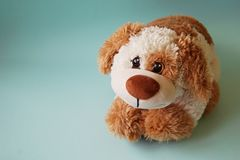 Big brown toy dog. royalty free stock photos