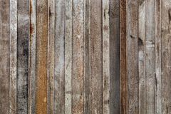 Big Brown wood plank wall background. Big Brown wood plank wall texture background stock photography