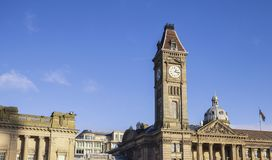 Big Brum Clock Tower on Blue Sky Royalty Free Stock Images