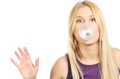 Big bubble gum Royalty Free Stock Photos
