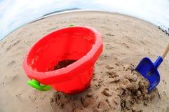 Big bucket and spade Stock Image
