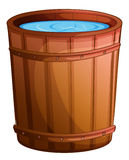 A big bucket of water. Illustration of a big bucket of water on a white background Stock Image
