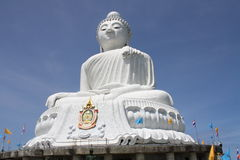 Big Budda-Phuket. Clear view of the Big Budda on the hill in Phuket, built out of marble Royalty Free Stock Images