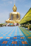 Big budda. Big sitting budda at Wat Muang, Angthong Stock Images