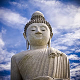 The Big Buddha. A Gigantic Buddha statue on the top  of a hill at Phuket, Thailand Stock Photography