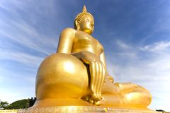 Big Buddha . Very Big Buddha Statue and blue sky Royalty Free Stock Photos
