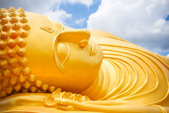 Big buddha. Gold in songkhla thailand Stock Image