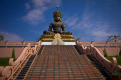 Big Buddha. Big Buddha image named Phra Buddha Maha Thammaracha in Traiphum temple at Phetchabun, Thailand Stock Photos