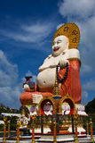 Big buddha. Giant colorful buddha statue at temple on koh samui thailand Royalty Free Stock Photos