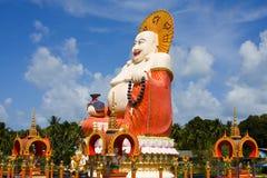 Big buddha. Big golden Buddha monument on the island of Samui, Thailand Royalty Free Stock Photography