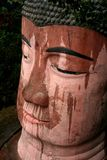 Big buddha. Close up of the giant buddha at Leshan in Sichuan, China Royalty Free Stock Image