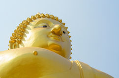 Big Buddha Angthong, Thailand. Landmark big statue Buddha in temple ruins of wat muong , Angthong Thailand Stock Images