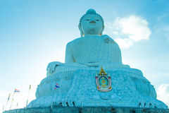 Big buddha and blue sky Royalty Free Stock Photography