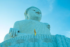 Big buddha and blue sky Royalty Free Stock Images