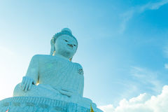 Big buddha and blue sky Royalty Free Stock Image