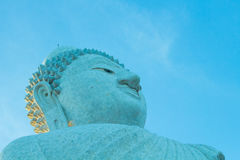 Big buddha and blue sky Stock Photos