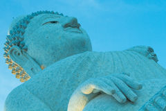 Big buddha and blue sky Royalty Free Stock Photos