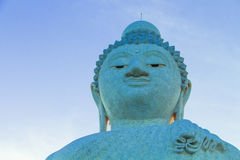 Big buddha and blue sky Royalty Free Stock Photo