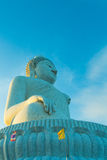 Big buddha and blue sky Stock Image