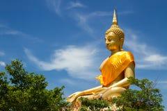 Big buddha with bluesky Royalty Free Stock Images
