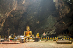 Big Buddha for ceremony are the big cave of Thailand Royalty Free Stock Photos