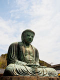 Big Buddha Daibutsu with blue sky Royalty Free Stock Images