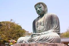 The big Buddha, Daibutsu, in Kamakura, Japan Stock Photography