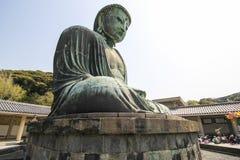 The big Buddha, Daibutsu, in Kamakura, Japan Royalty Free Stock Images