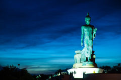 Big Buddha in the evenings. Royalty Free Stock Photography