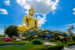 Big Buddha gold stock photography