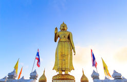 A big buddha on the hill. A big golden buddha on the hill (kao kor hong Royalty Free Stock Images