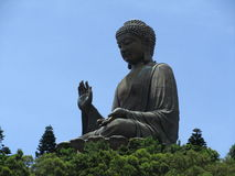 Big Buddha in Hong Kong. Image of the Tian Tan Buddha (Big Buddha). This is a huge bronze statue of Buddha Shakyamuni and situated at Ngong Ping, Lantau Island royalty free stock image