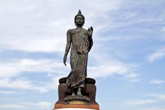 Big Buddha image with blue sky Stock Photo