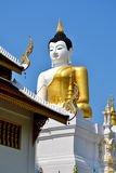 The Big Buddha Image and blue sky. Of Thailand Royalty Free Stock Photo