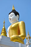 The Big Buddha Image and blue sky. Of Thailand Stock Photography