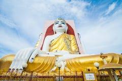 Big buddha image sit 4 side at Kyaik pun pagoda myanmar Stock Image