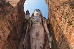 Big buddha image. At Sukhothai historical park, Sukhothai, Thailand royalty free stock photography