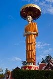 Big Buddha image at Susan Trailak Priests in Lampang province, Thailand royalty free stock photo