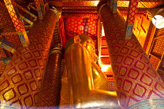 Big Buddha image, Wat Phanan Choeng Stock Photography
