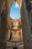 Big buddha image. At wat Srichum, Sukhothai, Thailand stock images