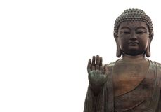 Big buddha isolated on white Royalty Free Stock Image