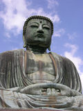 Big Buddha in Japan. Big statue of Buddha in Kamakura (Japan) in the posture for meditation Royalty Free Stock Images