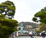 Big Buddha japan Kamakura. Rainning at japan big Buddha visit stock images