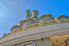 Big Buddha Lantau. The Tian Tan Buddha or Big Buddha, a large bronze statue at Ngong Ping on Lantau Island, is a major centre of Buddhism in Hong Kong, China Royalty Free Stock Photo