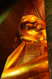 Big Buddha. Large Reclining Buddha in Wat Pho Temple stock images