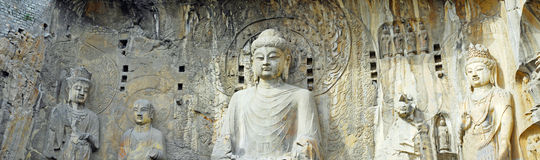 The big buddha of Longmen Grottoes in china Royalty Free Stock Image