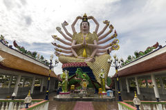 Big buddha with many arms Royalty Free Stock Photography
